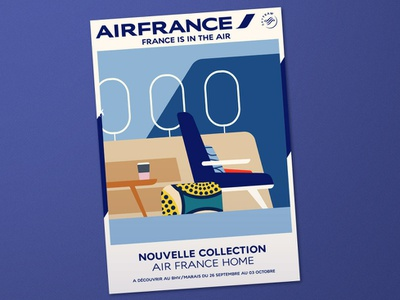 Air France photoshop illustrator flat  design affiche poster bhvmarais air france
