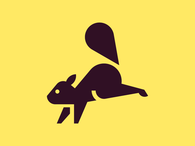 Squirrel chipmunk squirrel red squirrel animal symbol iconic pictogram picto icon design icon