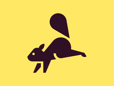 Squirrel chipmunk squirrel red squirrel animal symbol iconic pictogram picto icon design icon