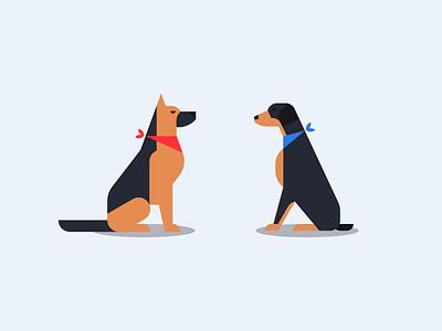 Dogs geometric doberman shepherd shepherd dog pet dog animal illustration picto iconic icon design icon