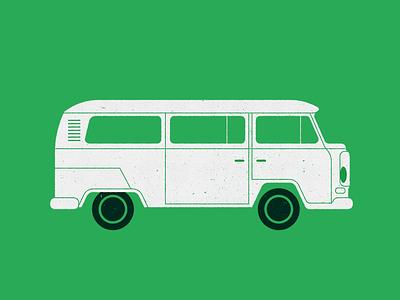 Volkswagen Transporter graphic design historical vintage volkwagen transporter vehicle car texture illustration picto icon design icon