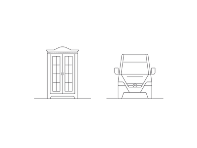 WIP Icon Design transporter cabinet furniture illustration pictogram picto iconography icondesign icon