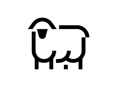 Sheep Icon Design lamb sheep outline line animal glyph iconography pictogram icondesign iconset icons icon