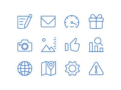 Icon Set user interface uidesign line outline iconography icon design pictogram icondesign iconset icons icon