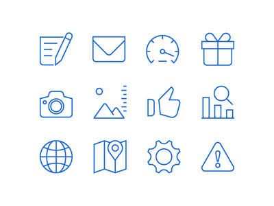 Icon Set user interface uidesign line outline iconography icon design pictogram icondesign iconset icons icon