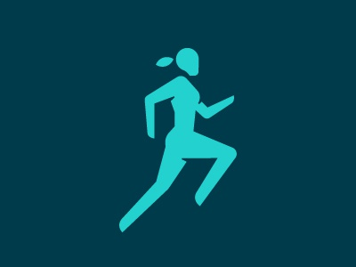 Sport Icon sport atheltic running human woman minimal pictogram icon design custom icon icon