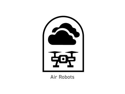 OSU Robotics Badge - Air Robots logo illustration badges branding design