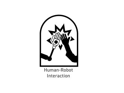 OSU Robotics Badges - HCI Robots logo illustration badges branding design