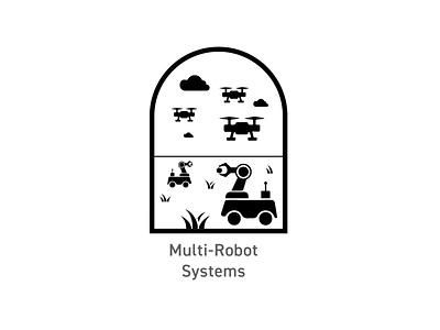 OSU Robotics - Multi-Robot Systems Badge logo illustration badges branding design