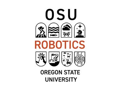 OSU Robotics Branding Badges logo illustration badges branding design