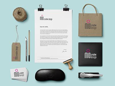 Mio Creative Design Brand Identity corporate id stationery brand mio creative design