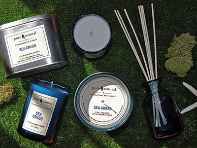 Pure and Natural Candle Collection by Chesapeake Bay Candle target sea grass collection candle design product development candles