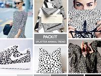 Packit Trend Board: Splatter Animal Trend