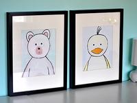 Duck & Bear painting/Illustration