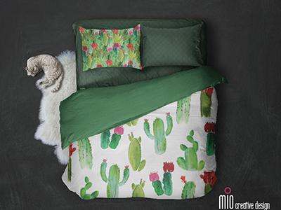 Mio Creative Design Succulent Bedding watercolor succulent bedding