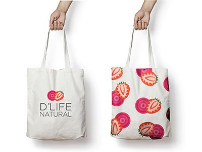 D'Life Promotional Bag illustration fruit juice promotional bag promotion dlife