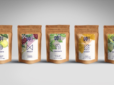 Dot Therapy Tea Collection tea packaging symbology packaging tea dot therapy