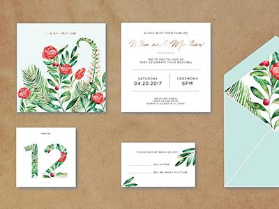 Wedding Invitation graphic design graphic print wedding invitation wedding