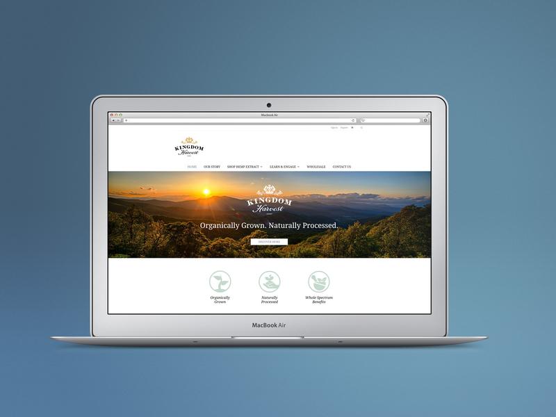 Kingdom Harvest Website Design graphicdesign website web design kingdomharvest websitedesign design