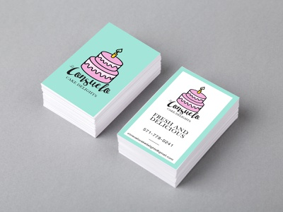 Consuelo Cake Delights Business Card colors graphicdesign businesscard design