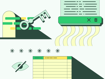 Privacy and security settings illustrations