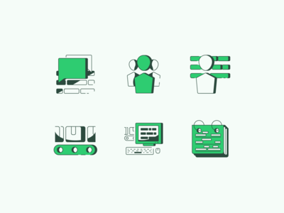 Production monitoring icon set
