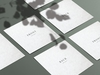 Square Business Card Mockup with Shadows