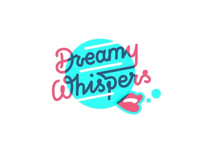 Whisper not illustration music lettering logo
