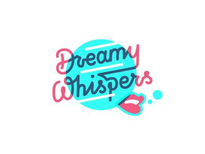 Whisper not illustration music lettering logo