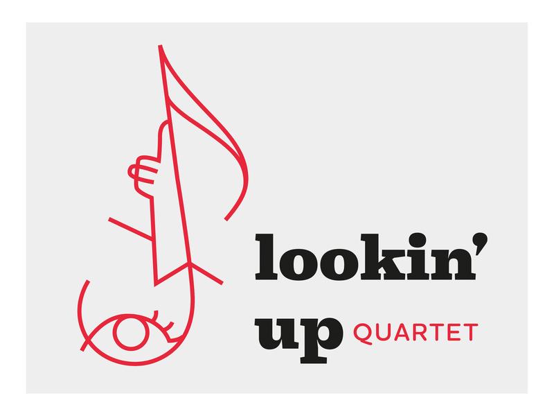Lookin' up icon artwork icon design music logo identity branding band logo illustration