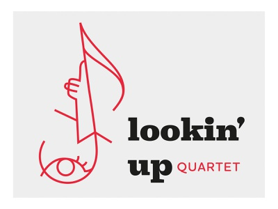 Lookin' up icon artwork icon design music logo identity branding band logo illustration