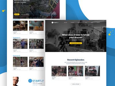 Start Up Re-branding website video ux ui tv streaming start up movie landing page gallery film branding