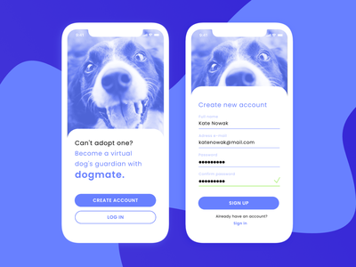 Daily UI #001 Sign up app screen sign up form sign up dog daily ui challenge app design ui design ui dailyui ui challenge daily ui
