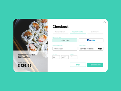Daily UI #002 Credit card checkout form sushi roll design daily ui challenge visual design ui daily ui checkout form credit card form checkout dailyui