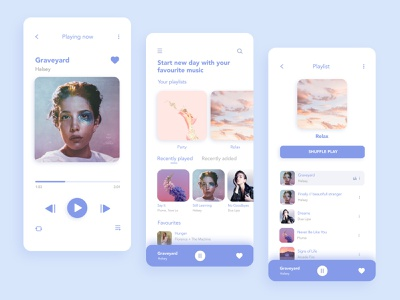 Music player UI concept mobile ui mobile music application minimalism ui music player ui ui design music app music player