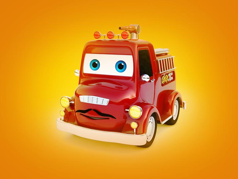 Fire car 3D model by Валерий on Dribbble