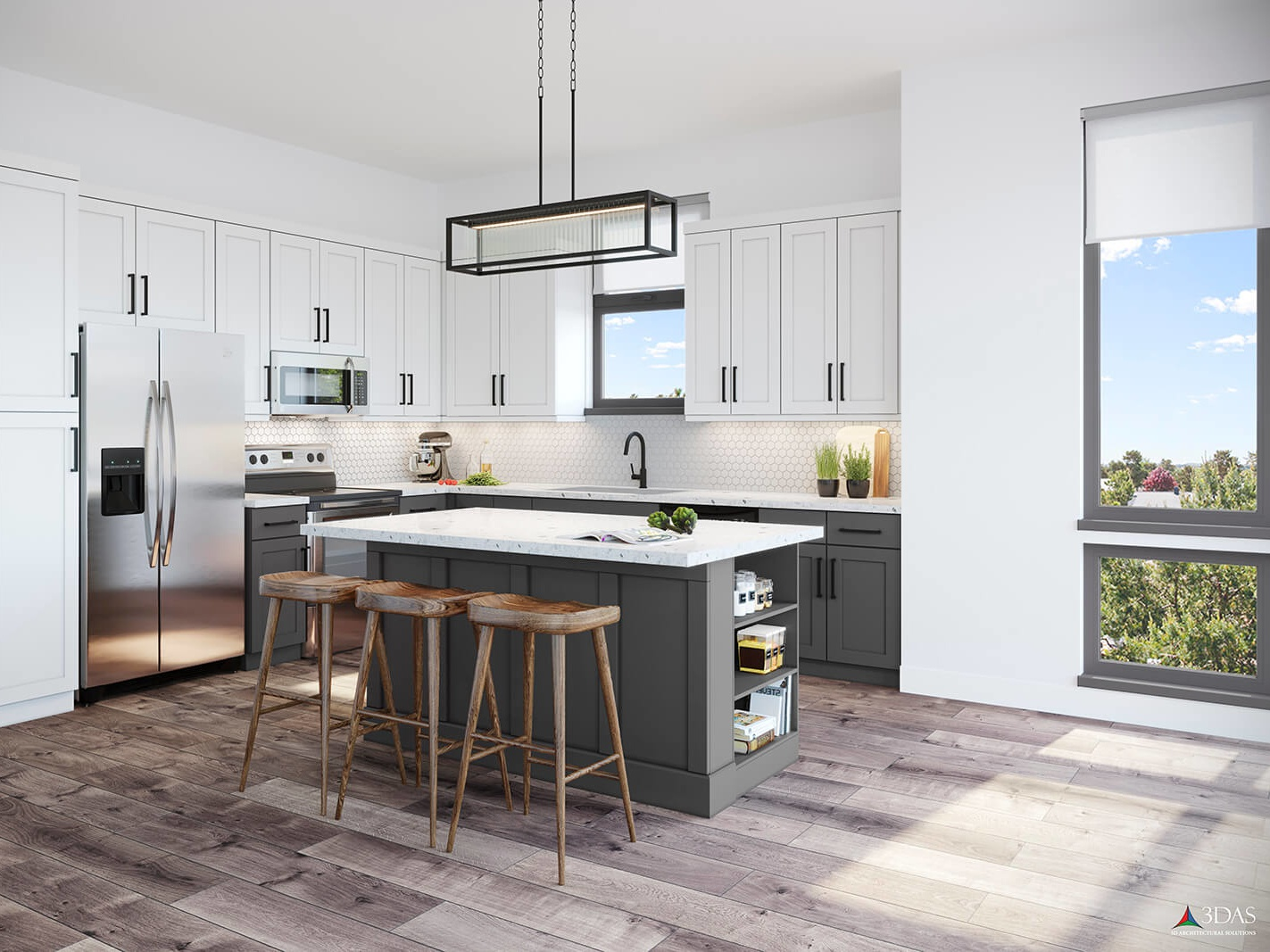 Kitchen 3d Rendering By 3das Dribbble Dribbble