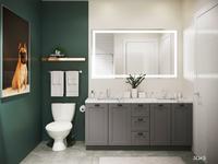 Bathroom 3D Rendering (with dog artwork) : Elan Halycon
