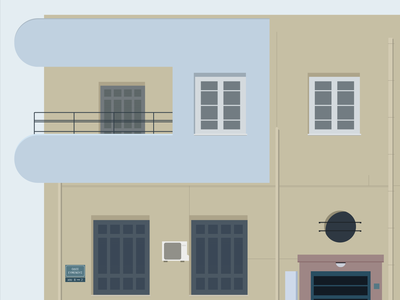 The houses of Athens / 02 building windows city urban illustration