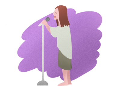 Singing green texture lifestyle purple illustration graphic singing song hippie