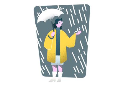 Rain fashion flat line spot weather rain texture graphic illustration design