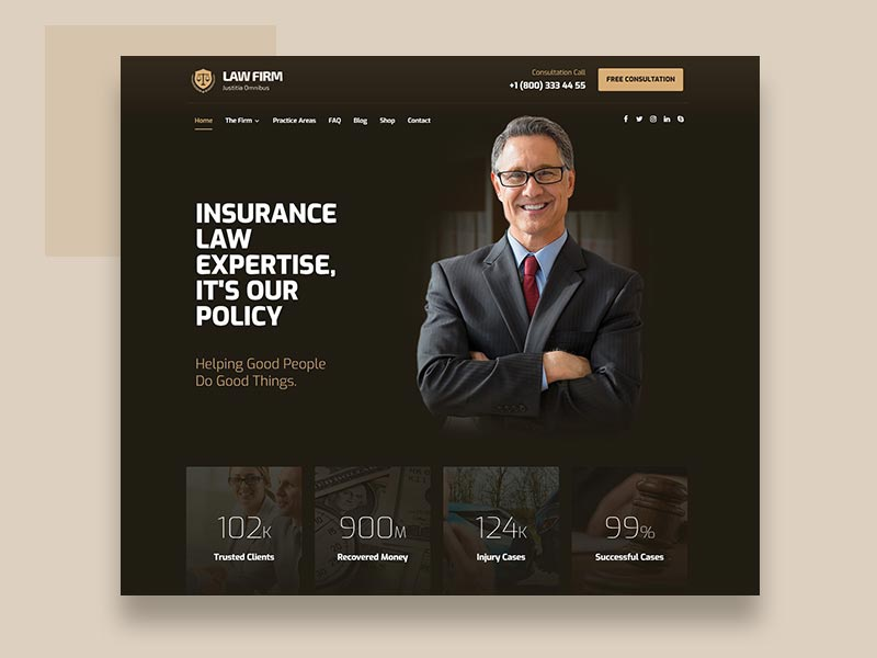 Lawyers & Law Firm business design layout web ux ui theme wordpress lawyers lawyer law firm law