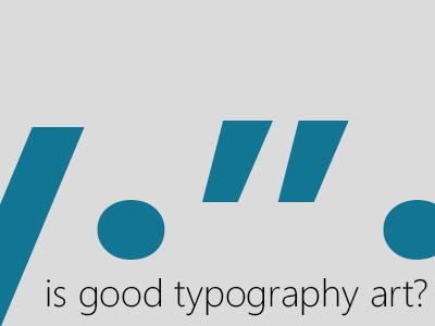 Typography typography minimal art