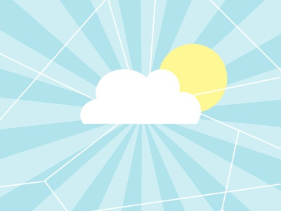 The Cloud Computer cloud internet web sky sun cloud computing