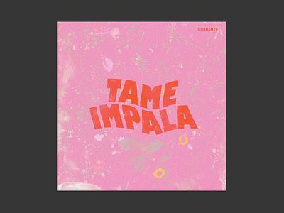 Tame Impala - Currents cover album cover album artwork album art graphic design orange graphicdesign typography layout design
