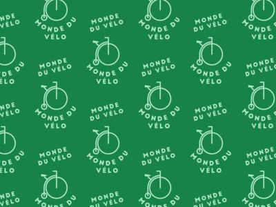 Bike logo pattern