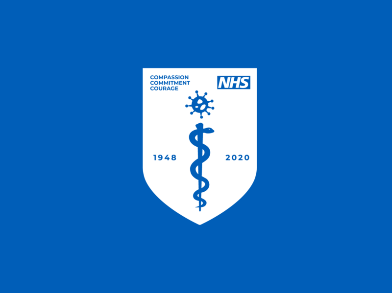 NHS COVID-19 Insignia nhs virus healthcare covid-19 simple identity art logo flat vector illustration design
