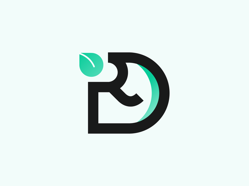 R&D monogram vector logo illustration identity design branding