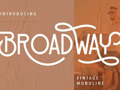 Broadway Vintage Monoline handwritten retro font vintage free retro fonts free vintage font fonts font free free fonts