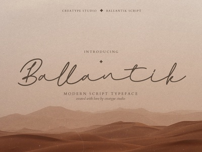 Ballantik Modern Monoline Script signature